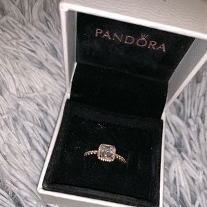 Rose gold Pandora promise ring
